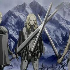 Anime Miria, Deneve, and Helen's farewell