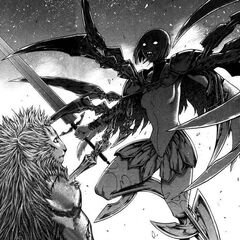 Partially Awakened Clare fighting Rigardo (Manga)