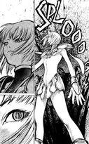Claire mentre uccide lo Yoma di doga 2 cap 1