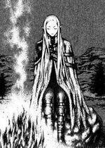 Irene davanti ad un fuoco (Claymore Italia Wiki)