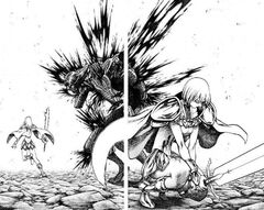 Miria e Claire mentre uccidono il risvegliato di Paburo