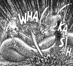 Ofelia risvegliata mentre attacca Claire nel bosco