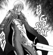 Jean mentre prepara la spada perforante