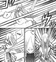 Miata attaccata da innumerevoli tentacoli di Agata