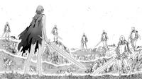 Priscilla davanti a tutti i membri dei sette fantasmi cap 144