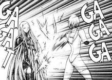 Irene mentre insegna a Claire la spada fulminea 1 cap 37