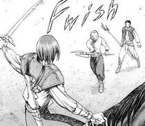 Abitante di Rokuto ucciso dal capo dei banditi 1 cap 16
