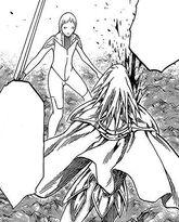 Gemella destrorsa che trafigge Miria mentre ha le allucinazioni