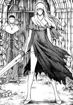 Galatea vestita da suora e con la spada