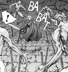Claire attaccata dagli yoma nel castello del monte zakol cap 43