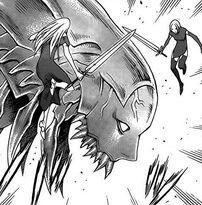 Risvegliato durante l'invasione a Rabona (1) mentre attacca Galatea e Tabitha 1