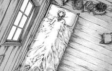 Claire mentre riposa nel letto di Irene cap 37