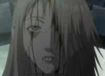 Guerriera sconosciuta della squadra di Jean ridotta in fin di vita da Duff prima di morire anime 1