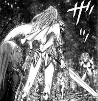 Dietrich quando decide di salvare Yuma dai mostri creati dal distruttore 1 - cap 101