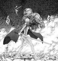 Jean che prepara la spada perforante mentre Claire attacca Duff cap 48