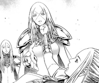 Tabitha mentre dà un pugno sul mento a Miria come promesso a Deneve cap 148