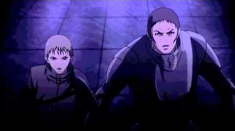 Claymore Galk and Sid confront Voracious Eater