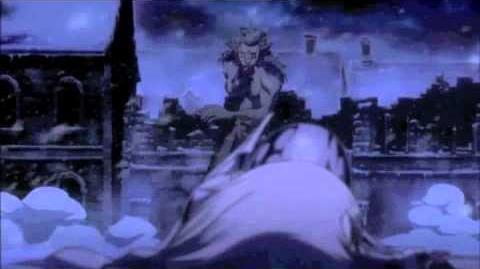Claymore Clare's awakened attack on Rigaldo