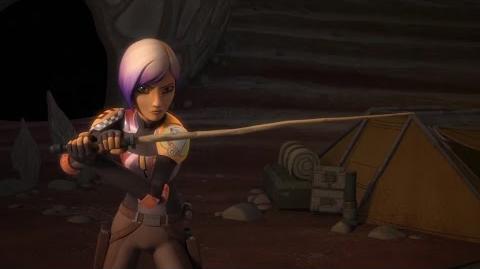 Ezra & Kanan Train Sabine With The Wooden Sticks 1080p