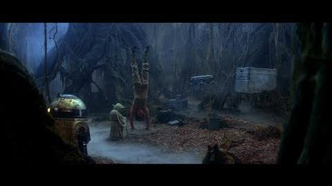 """Empire Strikes Back Yoda training Luke part 4 Luke's vision of the future """"There is another"""" (HD)"""