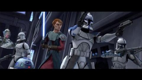 Battle in the Skytop Station Hangar - Star Wars The Clone Wars Season 1 Ep 7 Duel of the Droids
