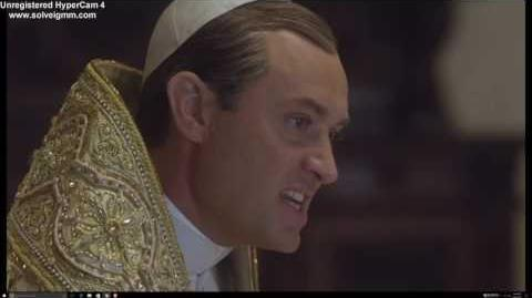 Young Pope and Italian Prime Minister