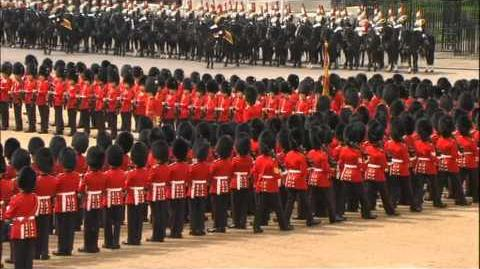 Scots Guards Trooping Their Colour 2011. The Queen's 59th Annual Birthday Parade.