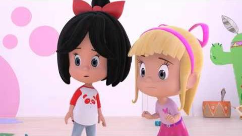 HICCUP MONSTER - Cleo and Cuquin in English. Episode 4. Nick Jr USA.