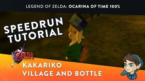 Kakariko Village and Bottle - 100% Ocarina of Time Speedrun Tutorial (Part 2)