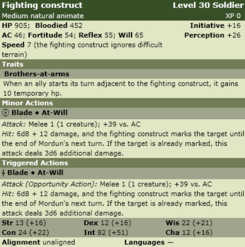 Fighting construct stats