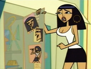 Cleo at Her Locker