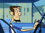 Abe Driving Away Sadly