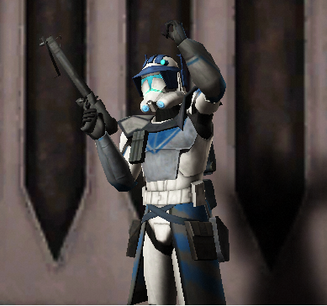 Squad Leader Racer with his Phase 2 Arc Marine armor