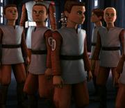 From left to right- Ember, Buckler, Boltshot, Niner, Torrent and Blade