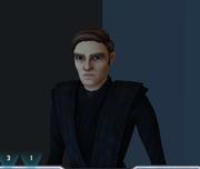 Luke at funeral
