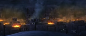 Ryloth Village Destroyed by Hyena Bombers