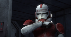 Shock trooper in coruscant base