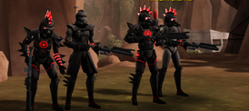 Kane and troopers