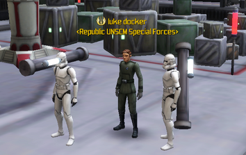 Luke overseeing training