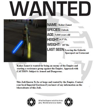 Kahar Zamet Wanted Poster ex 1