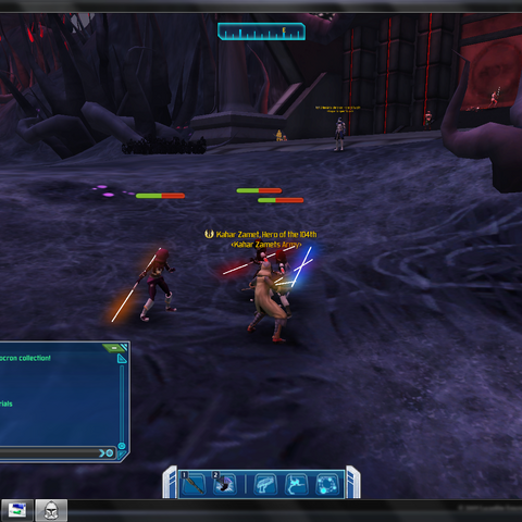 Kahar fighting Sith Acolytes on Umbara who were sent by their Overseer to capture him.