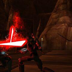Malek's attack fails to fatally injure Phantos.