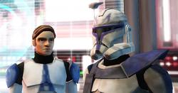 Luke speaks with Rex