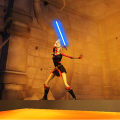 Zadira in an ancient Sith Temple