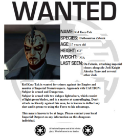 Kol Kerz-Tak Wanted Poster ex 1