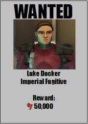 Luke Docker wanted poster