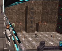 Luke at training base