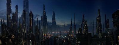 Coruscant at night