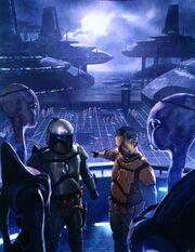 Jango and Kal training the clones
