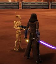 Jacen fighting on Geonosis